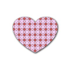 Cute Pretty Elegant Pattern Drink Coasters 4 Pack (heart)