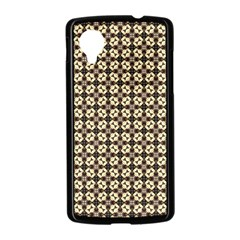 Cute Pretty Elegant Pattern Google Nexus 5 Case (Black)