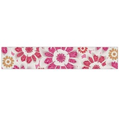 Floral Print Collage Pink Flano Scarf (Large)