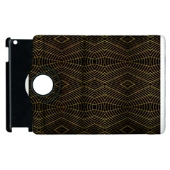 Futuristic Geometric Design Apple iPad 2 Flip 360 Case