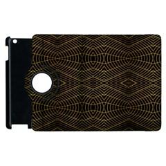 Futuristic Geometric Design Apple Ipad 3/4 Flip 360 Case