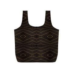 Futuristic Geometric Design Reusable Bag (S)