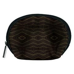Futuristic Geometric Design Accessory Pouch (medium)