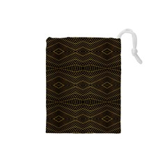 Futuristic Geometric Design Drawstring Pouch (Small)