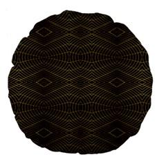 Futuristic Geometric Design 18  Premium Flano Round Cushion