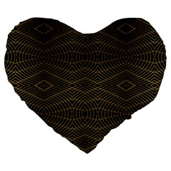 Futuristic Geometric Design 19  Premium Flano Heart Shape Cushion