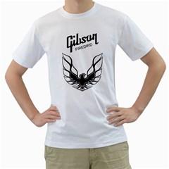 Gibson Firebird Guitar Black Men s T Shirt (white)