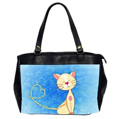 Cute Cat Oversize Office Handbag (two Sides)