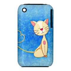 cute cat Apple iPhone 3G/3GS Hardshell Case (PC+Silicone)