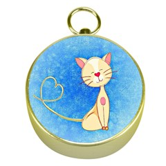 Cute Cat Gold Compass