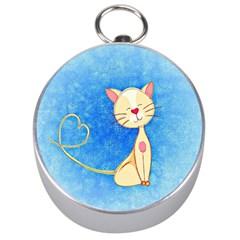 cute cat Silver Compass