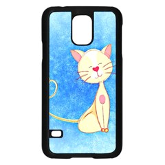 cute cat Samsung Galaxy S5 Case (Black)