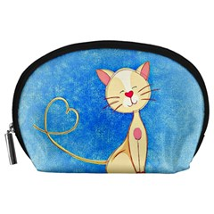 cute cat Accessory Pouch (Large)
