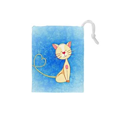 Cute Cat Drawstring Pouch (small)