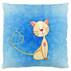 cute cat Large Flano Cushion Case (One Side)