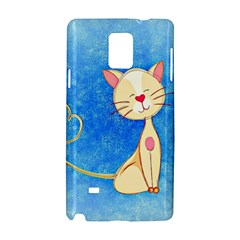 cute cat Samsung Galaxy Note 4 Hardshell Case
