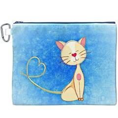 cute cat Canvas Cosmetic Bag (XXXL)
