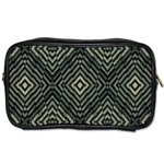 Geometric Futuristic Grunge Print Travel Toiletry Bag (Two Sides) Front