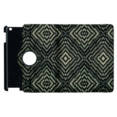 Geometric Futuristic Grunge Print Apple iPad 3/4 Flip 360 Case