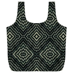Geometric Futuristic Grunge Print Reusable Bag (XL)