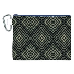 Geometric Futuristic Grunge Print Canvas Cosmetic Bag (XXL)