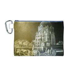 Thunder monochrome  Canvas Cosmetic Bag (Medium)