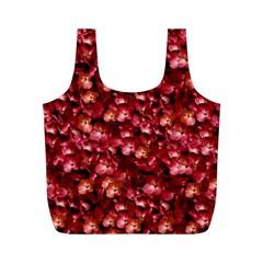 Warm Floral Collage Print Reusable Bag (m)