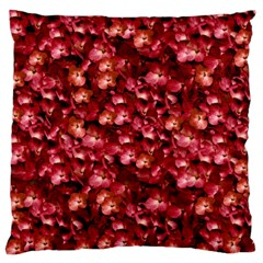 Warm Floral Collage Print Large Flano Cushion Case (One Side)