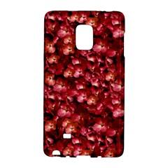 Warm Floral Collage Print Samsung Galaxy Note Edge Hardshell Case