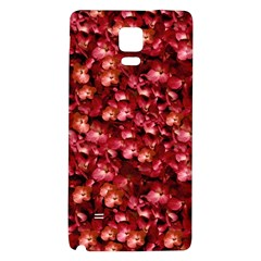 Warm Floral Collage Print Samsung Note 4 Hardshell Back Case