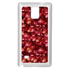 Warm Floral Collage Print Samsung Galaxy Note 4 Case (white)