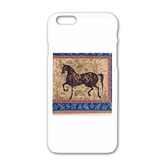 Abstract horse  Apple iPhone 6 White Enamel Case