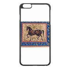 Abstract Horse  Apple Iphone 6 Plus Black Enamel Case
