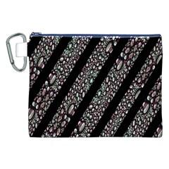 Organic Texture Stripe Pattern Canvas Cosmetic Bag (XXL)