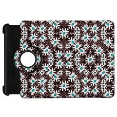 Modern Floral Geometric Pattern Kindle Fire Hd Flip 360 Case