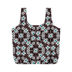 Modern Floral Geometric Pattern Reusable Bag (M)