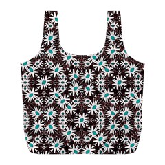 Modern Floral Geometric Pattern Reusable Bag (l)