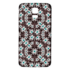 Modern Floral Geometric Pattern Samsung Galaxy S5 Back Case (White)