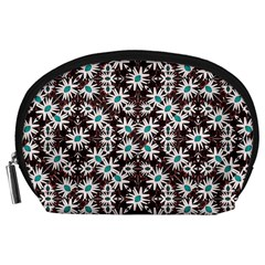Modern Floral Geometric Pattern Accessory Pouch (Large)