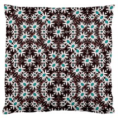 Modern Floral Geometric Pattern Large Flano Cushion Case (Two Sides)