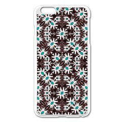 Modern Floral Geometric Pattern Apple iPhone 6 Plus Enamel White Case