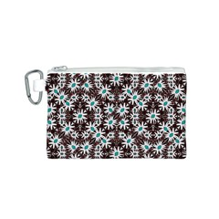 Modern Floral Geometric Pattern Canvas Cosmetic Bag (Small)