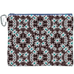 Modern Floral Geometric Pattern Canvas Cosmetic Bag (XXXL)
