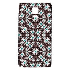Modern Floral Geometric Pattern Samsung Note 4 Hardshell Back Case