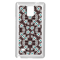 Modern Floral Geometric Pattern Samsung Galaxy Note 4 Case (white)