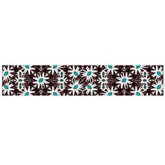Modern Floral Geometric Pattern Flano Scarf (Large)