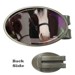 Two Horses Money Clip (oval)