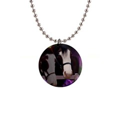 Two Horses Button Necklace