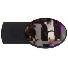 Two Horses 4GB USB Flash Drive (Oval)