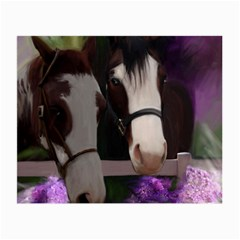 Two Horses Glasses Cloth (small, Two Sided)